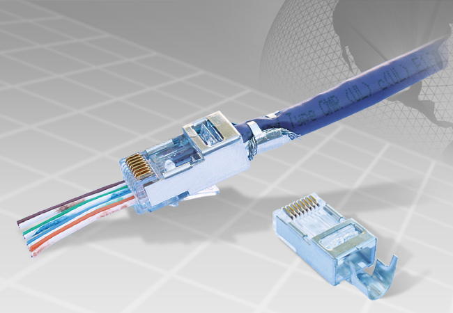 Shielded EZ-RJ45® for Cat5e & Cat6 w/ External Ground