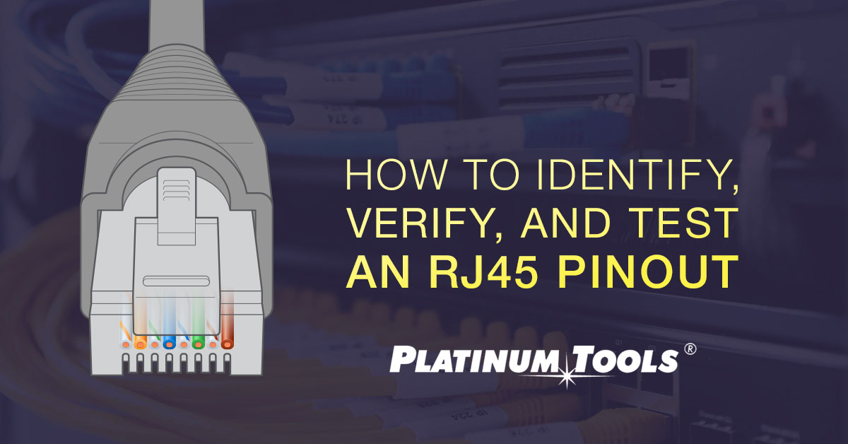 How to test rj45 pinout