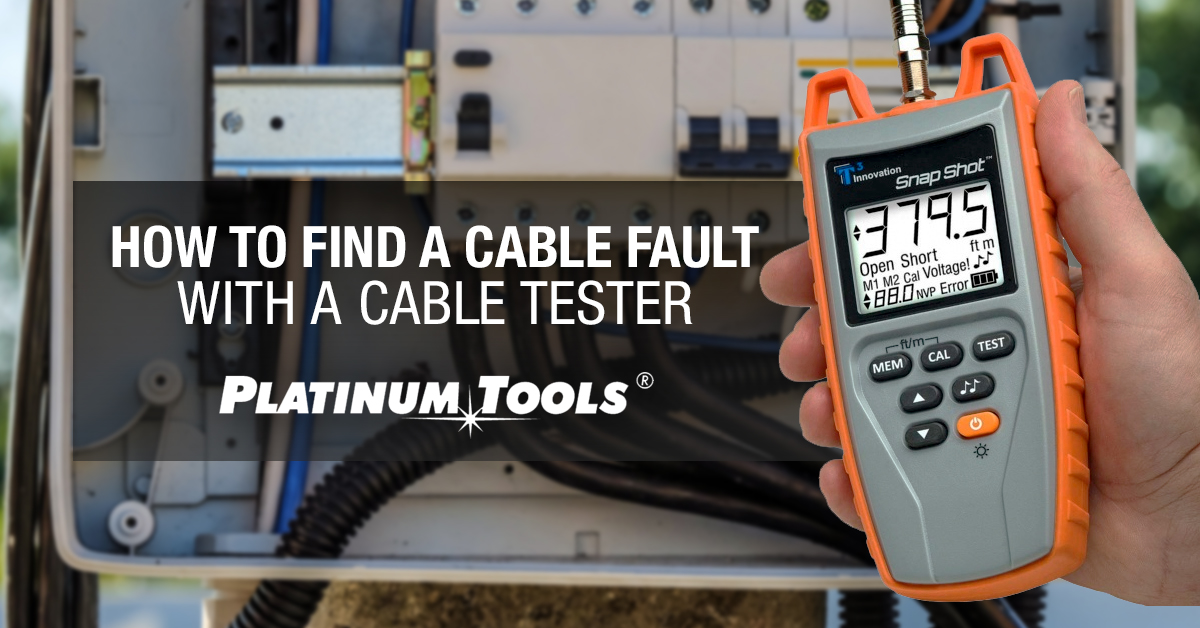 How to find a cable fault with a cable tester