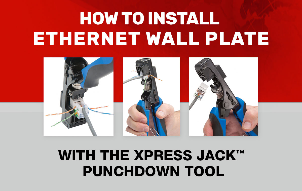 How to install ethernet wall plate