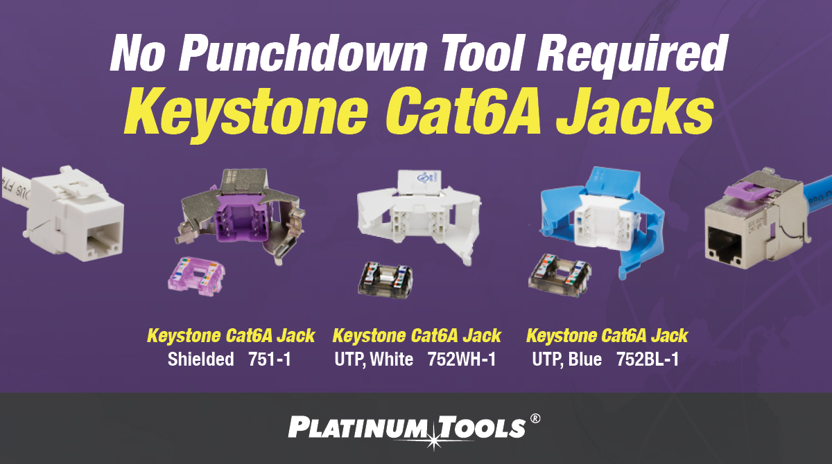 Keystone Cat6A Jacks