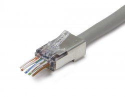 ezEX™44 Shielded CAT6 Connector, Internal Ground