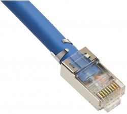 RJ45 CAT6A 10Gig Shielded Connector with Liner, Stranded