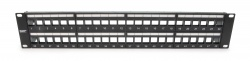 Unloaded Patch Panel, 48 Port, Shielded