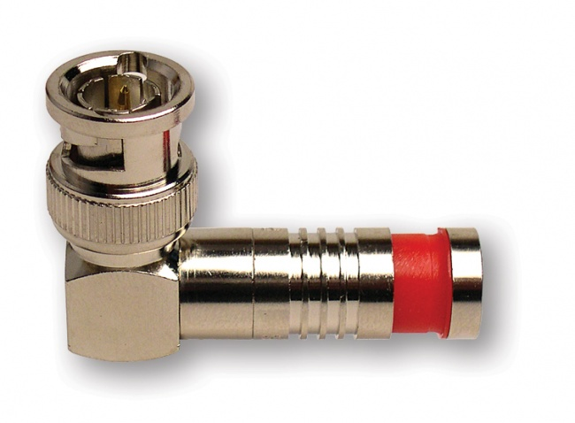BNC-Type Right Angle Nickel SealSmart Coaxial Compression Connectors - Platinum Tools