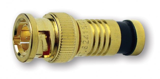 BNC-Type Gold SealSmart Coaxial Compression Connectors - Platinum Tools