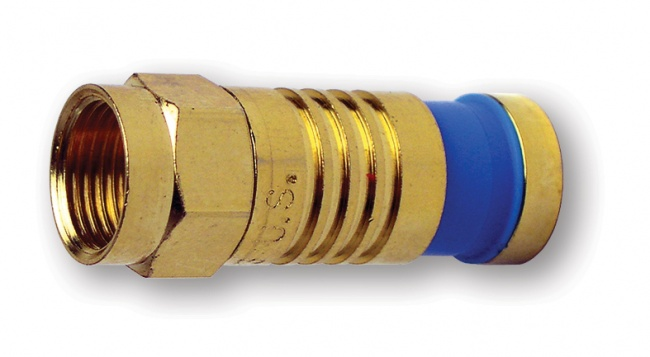 F-Type Gold SealSmart Coaxial Compression Connectors - Platinum Tools