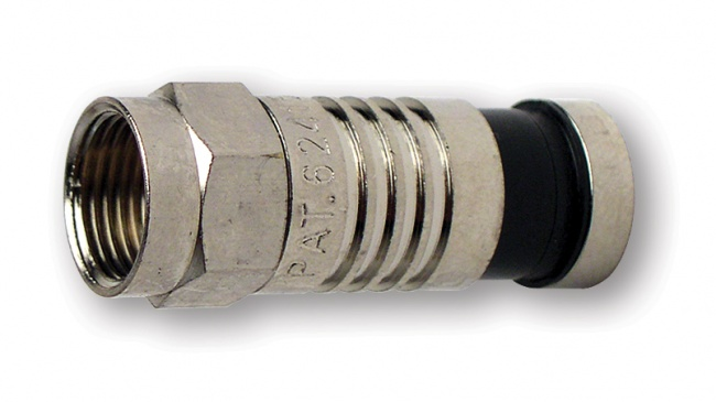 F-Type Nickel SealSmart Coaxial Compression Connectors - Platinum Tools