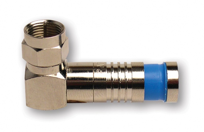 F-Type Nickel Right Angle SealSmart Coaxial Compression Connectors - Platinum Tools