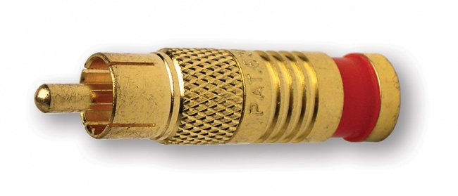 RCA-Type Gold SealSmart Coaxial Compression Connectors - Platinum Tools