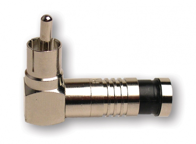 RCA-Type Right Angle Nickel SealSmart Coaxial Compression Connectors - Platinum Tools