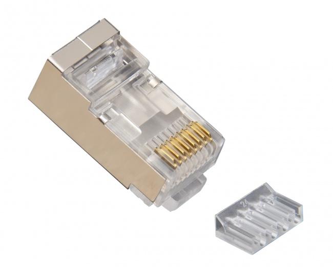 Standard CAT6 Shielded 2 Piece High Performance RJ45 Connectors - Platinum Tools