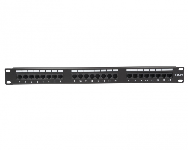 24 Port Cat5e Non-Shielded Patch Panel - Platinum Tools