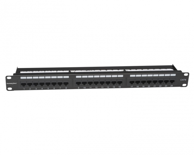 24 Port Cat6 Non-Shielded Patch Panel - Platinum Tools
