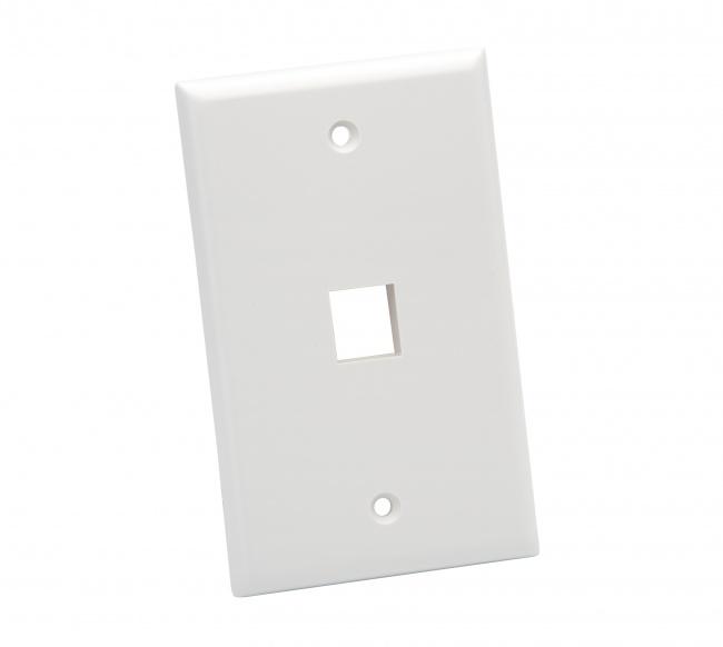 Standard Wall Plate 1 Port - Platinum Tools