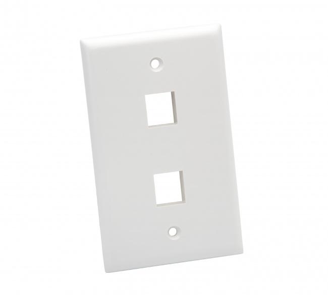 Standard Wall Plate 2 Port - Platinum Tools