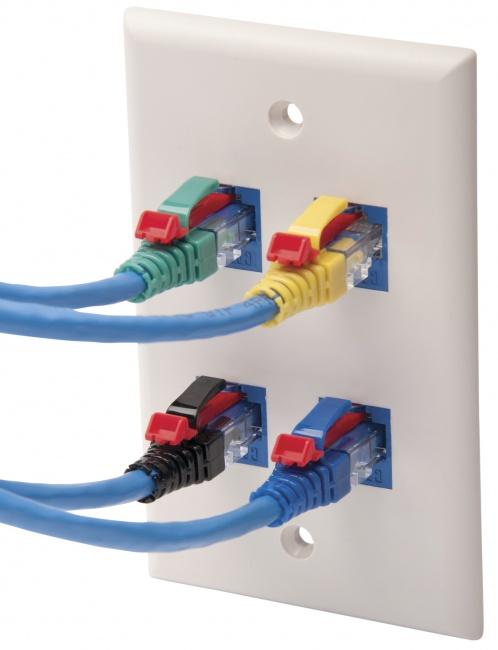 Blue Standard RJ45//EZ-RJ45 Cat6 Platinum Tools 100042B-C Platinum EZ-Data Lock Set