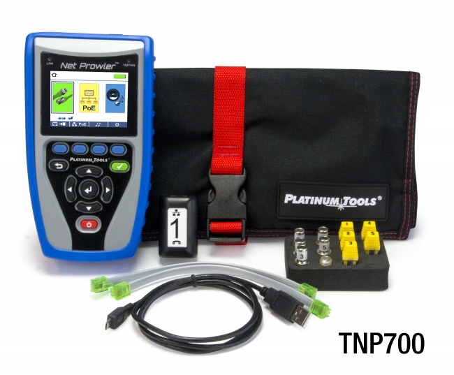 graphic about Cat6 Cable Tester With Printable Results identified as Platinum Tools® Merchandise Testers Community Cable