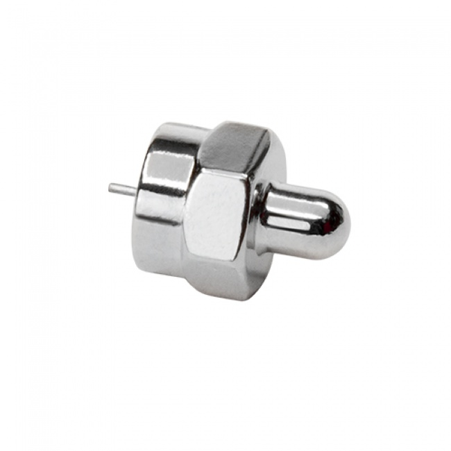 Coax Adapter: F Male Terminator 75 ohm - Platinum Tools
