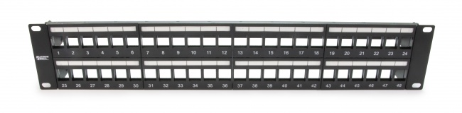 Unloaded Patch Panel 48 Port Shielded - Platinum Tools