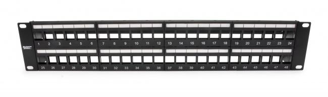 Unloaded Patch Panel 48 Port Unshielded - Platinum Tools